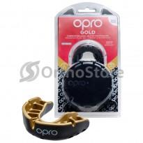 Капа OPRO Gold Black/Gold (Верхняя челюсть)