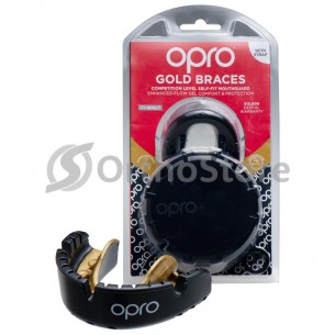 Капа OPRO Gold Braces Black / Gold (Верхня щелепа)
