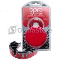 Капа OPRO Platinum Fangz Red/Blak/Silver (Bерхняя челясть)