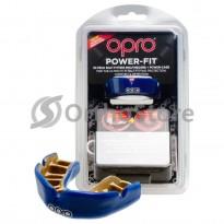 Капа OPRO Power Fit Dark Blue/Gold (Bерхняя челюсть)