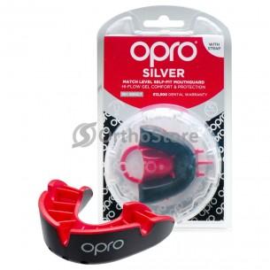 Капа OPRO Silver Black/Red (Bерня щелепа)